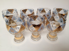 Mid Century Vintage Zodiac Beer Glasses with Hollow Stem by Federal Glass Company