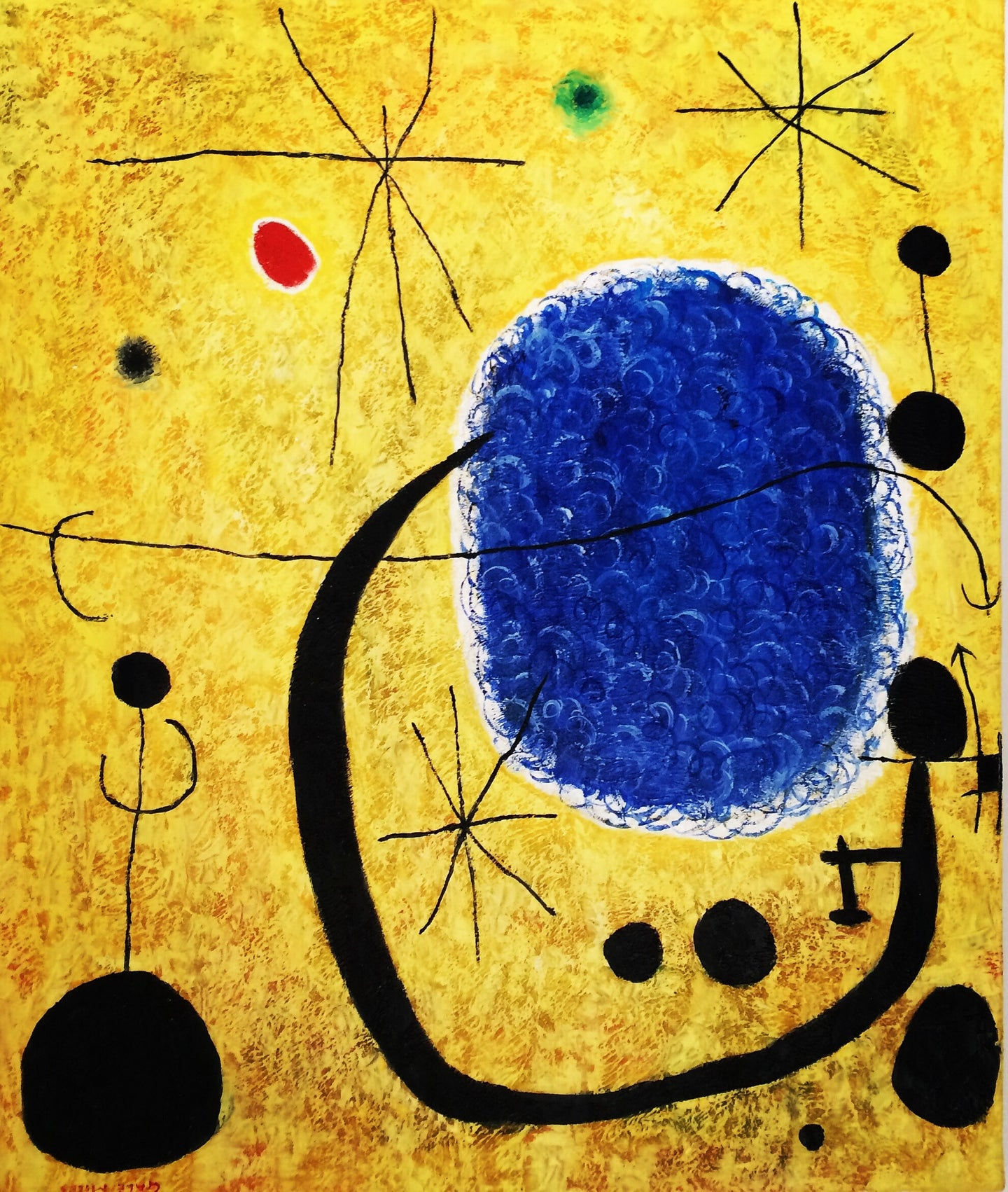 Acrylic on Canvas Painting Signed Gale Miers after Joan Miro