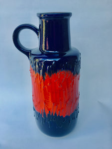 Tall Scheurich 409-52 West German Pottery Floor Vase