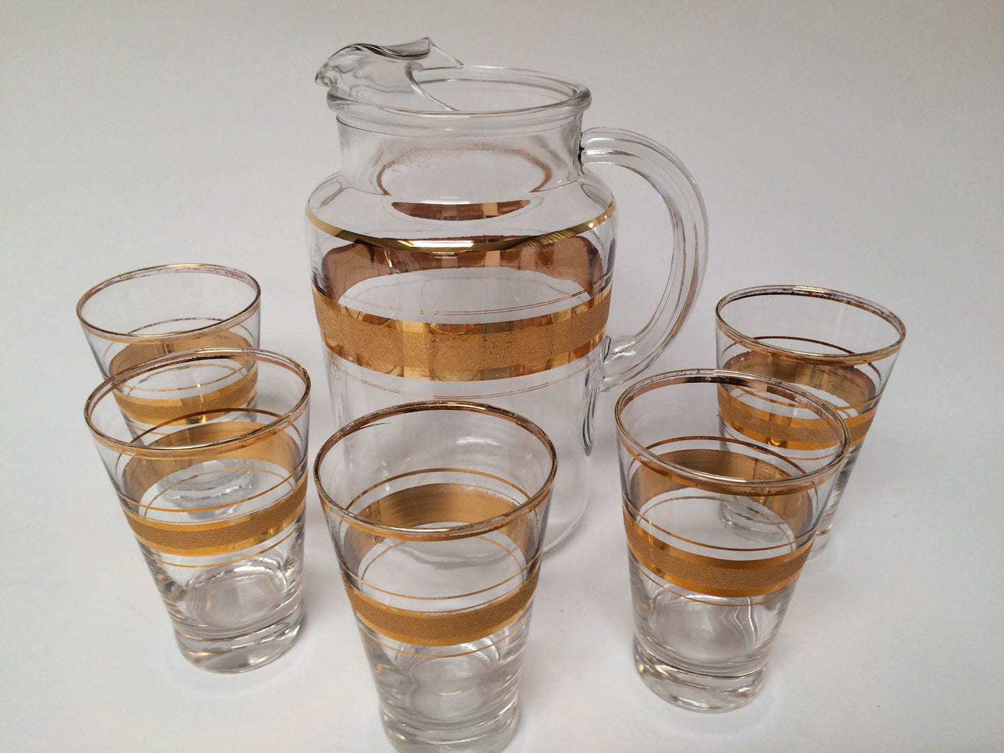 Vintage Gold Trimmed Beverage Juice Set