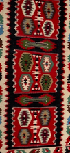 Vintage Dhurrie Style Table Runner - A Pair