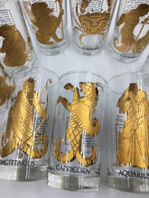 Mid Century Zodiac Highball Glasses