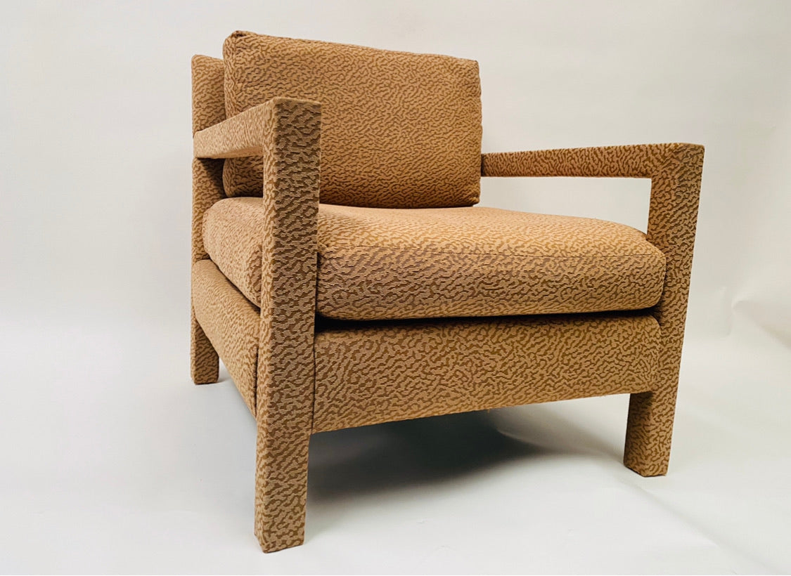 1970s Milo Baughman Parsons Chair and Ottoman