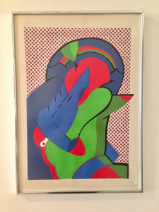 Mid Century Modern Pop Art Signed and Numbered Print by Peter Greenbilt