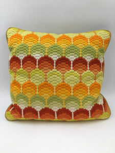 Square Lollypop Tree Needlepoint Pillow