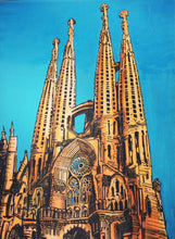 7 ft Painting of La Sagrada Familia in Barcelona