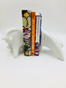 Retired Jonathan Adler Bull Bookends