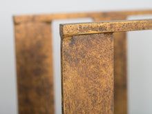 Brass Brutalist Magazine Rack
