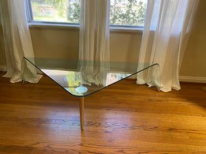 1970s Fiam Italia Glass and Steel Coffee Table