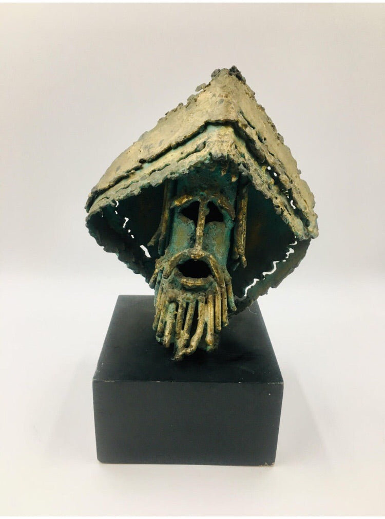 Brutalist Radical Hippie Tabletop Sculpture