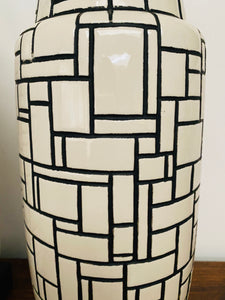 Mid Century Modern Italian Ceramic Table Lamps - A Pair