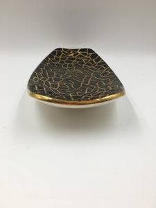 Black and Gold Footed Dish
