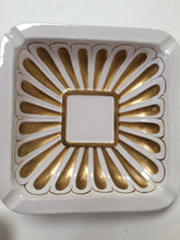 Urbano Zaccagnini Hollywood Regency White & Gold Ashtray & Dish