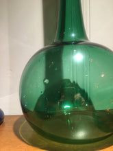 Tall Vintage Empoli Italian Green Floor Decanter