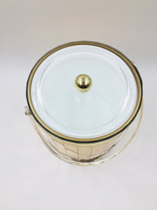 Mid Century Georges Briard Hollywood Regency Gold Mirrored Ice Bucket