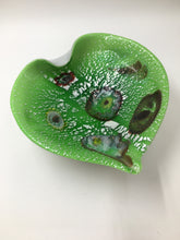 Lime and White Murano Glass Dish