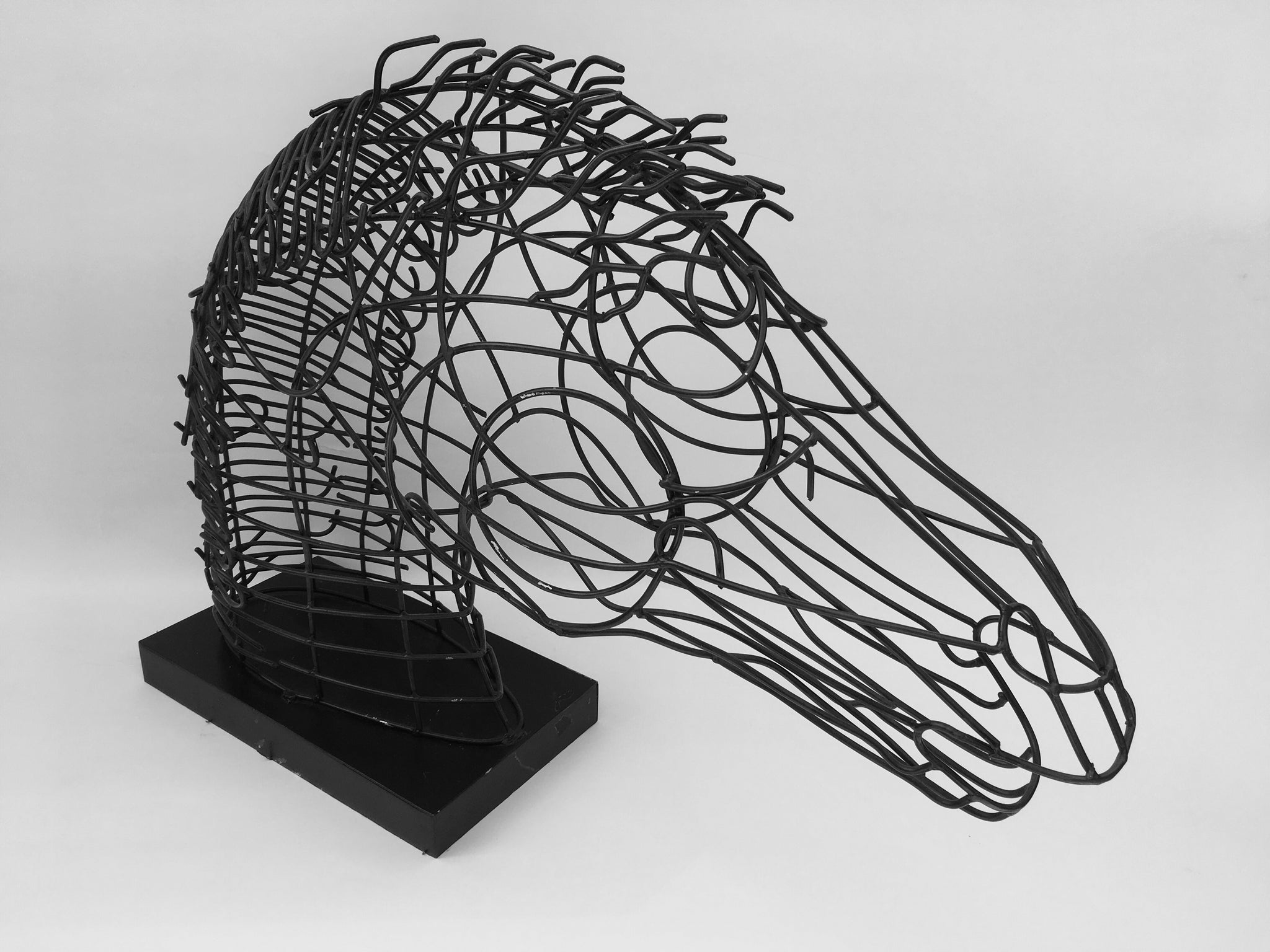 Wire Table Top Horse Head Sculpture Thoroughly Modern Maggie