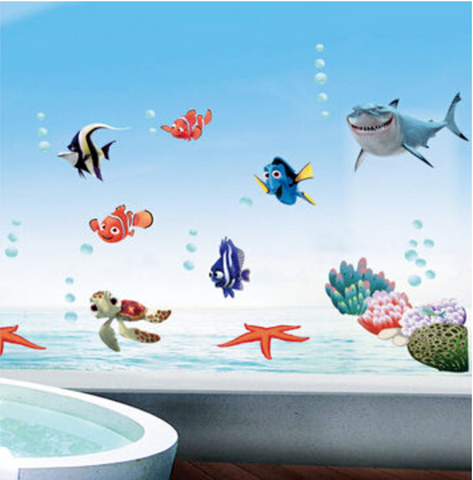 3D Bathroom Wall Stickers