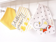 Dribble bibs Pack of 3 Gorgeous Designs