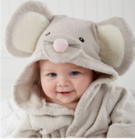 Bath Towel with Hood *Cutest little Animals*