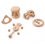 Wooden Montessori Inspired Teethers - Set of 5