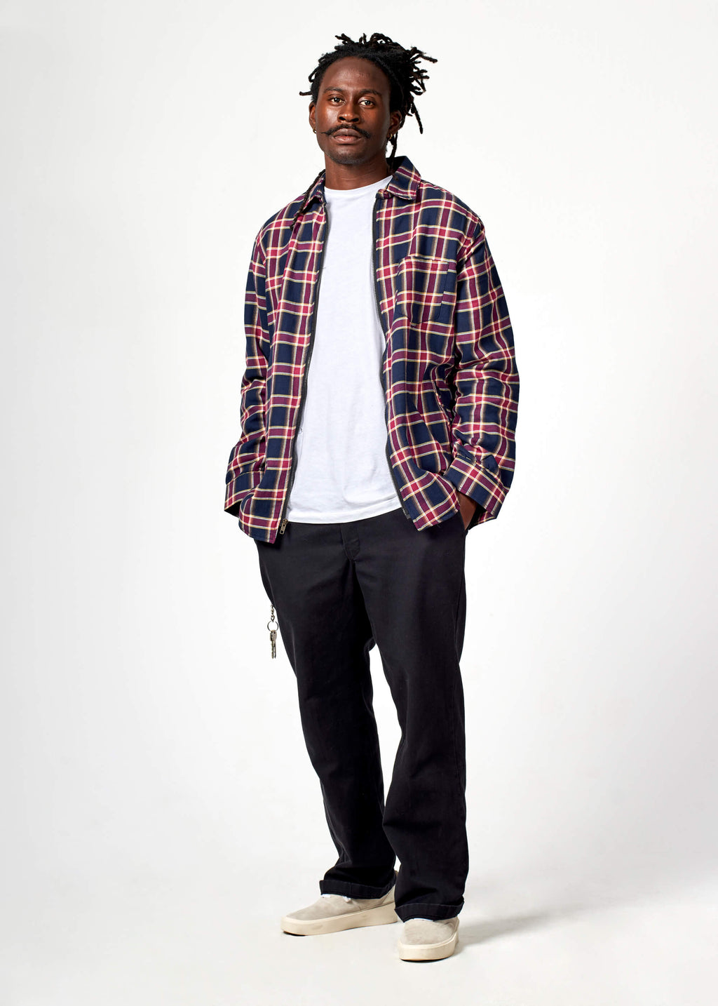 TY03 / Plaid Zip Shirt