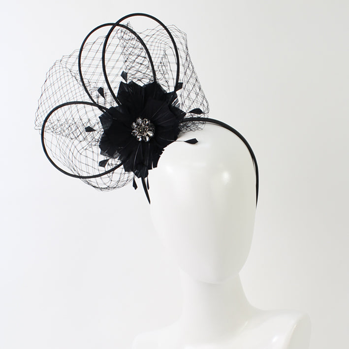 Jendi fascinator 01-178 Black