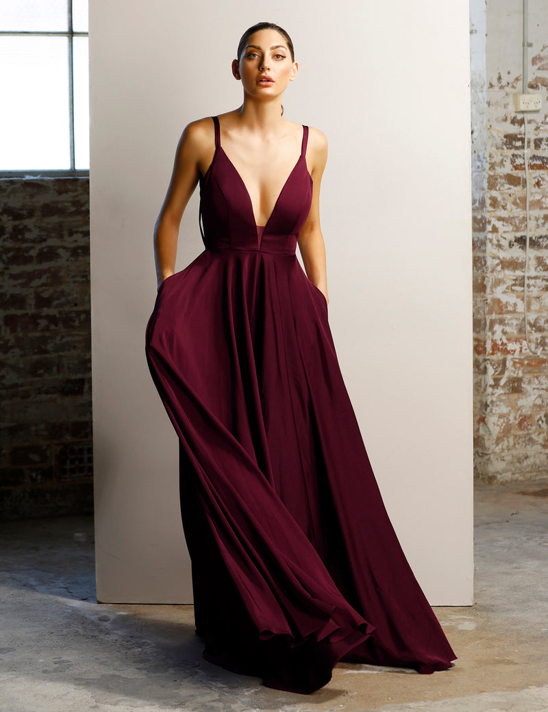 Jadore - JX1078 (Available in Maroon, Plum and Dark Green)