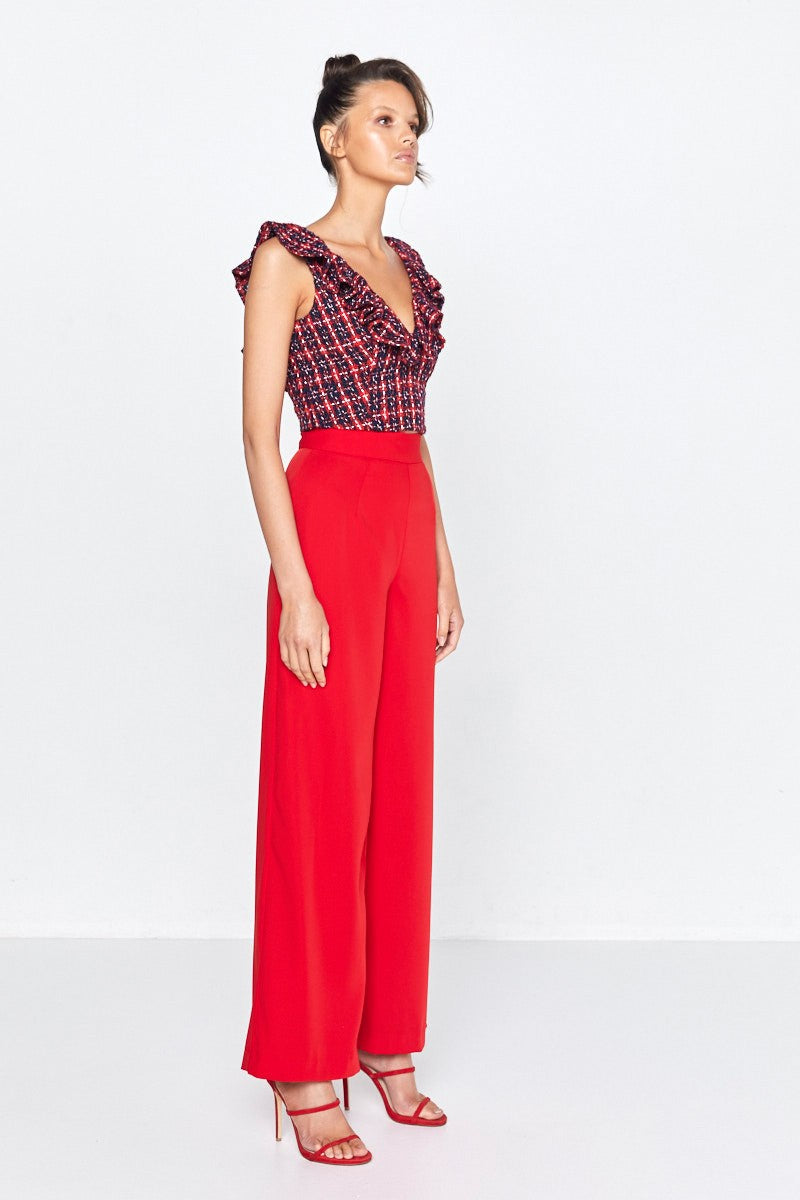 Mossman Fragmented Pants in Scarlett