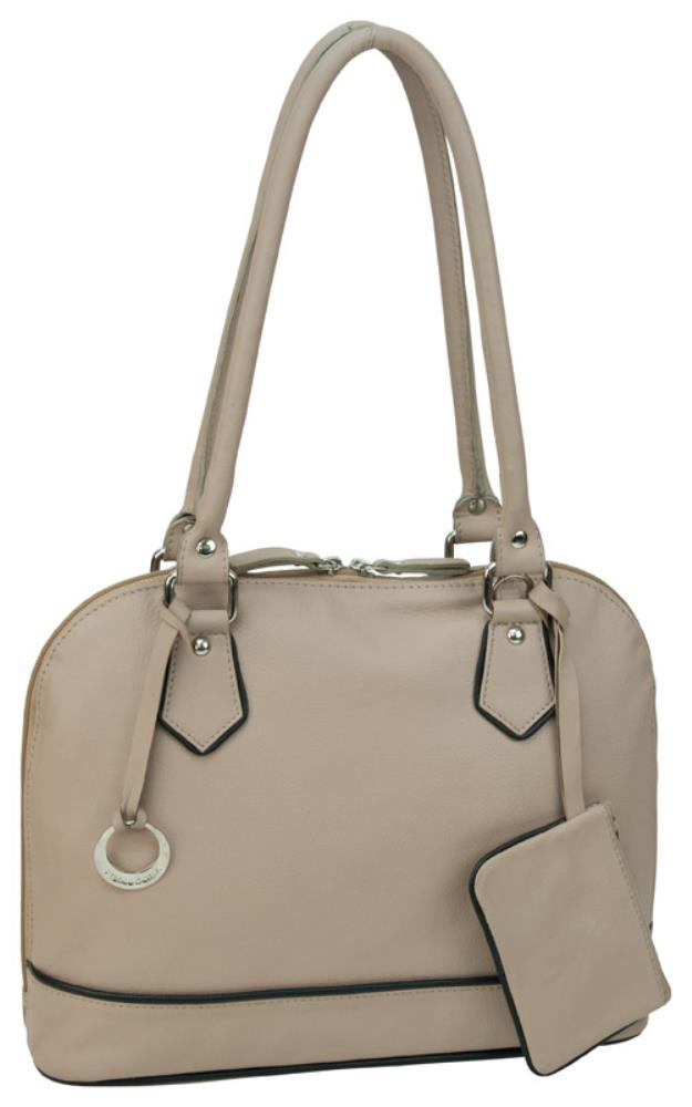 Franco Bonni Leather Shoulder Bag  in Nude