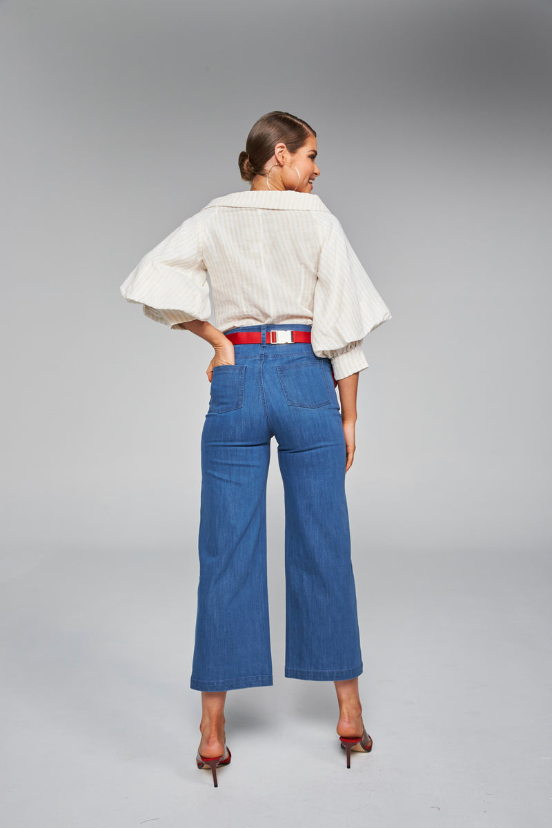 Frankie + Dash True Navy Denim Coulette
