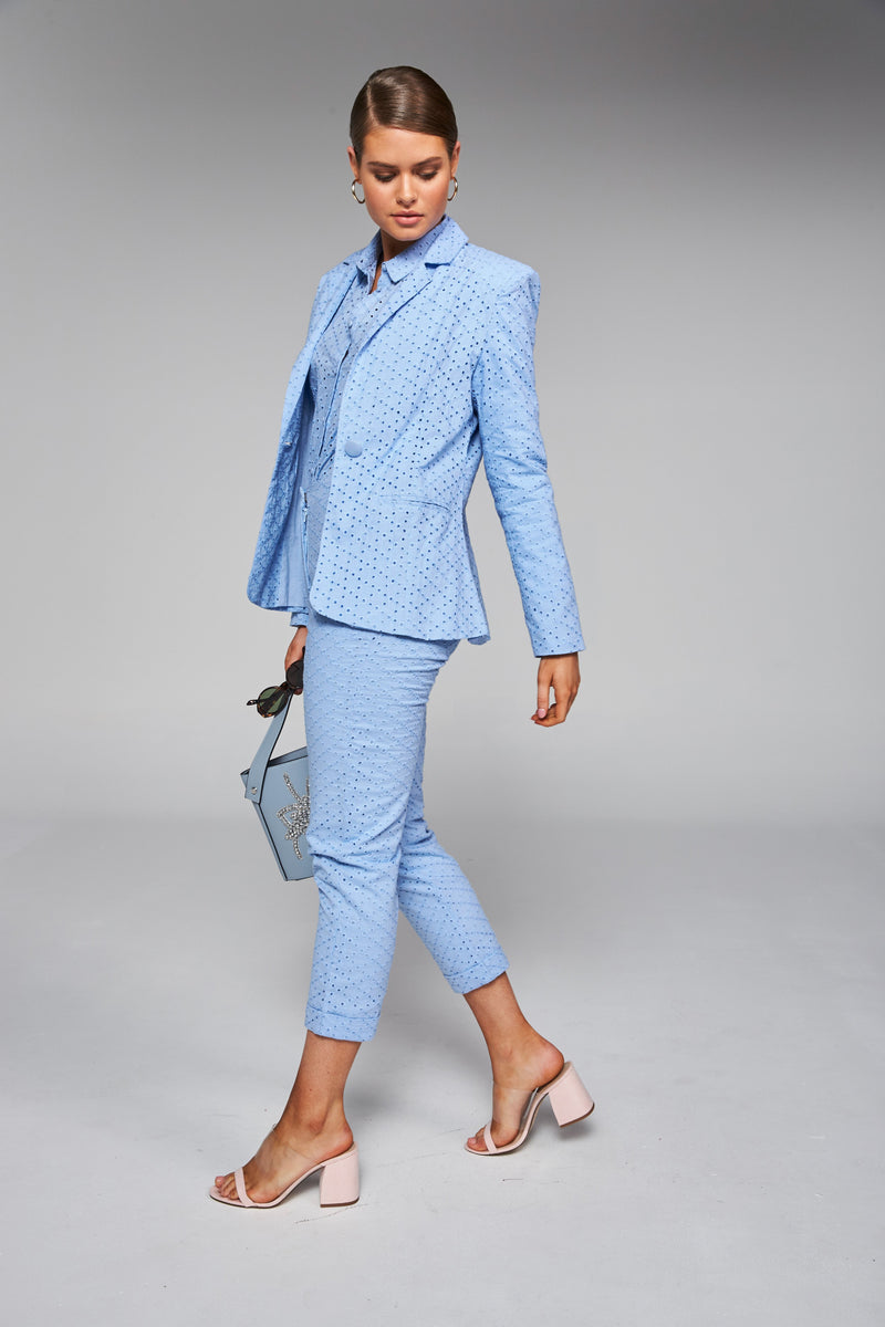 Frankie + Dash Powder Blue Blazer