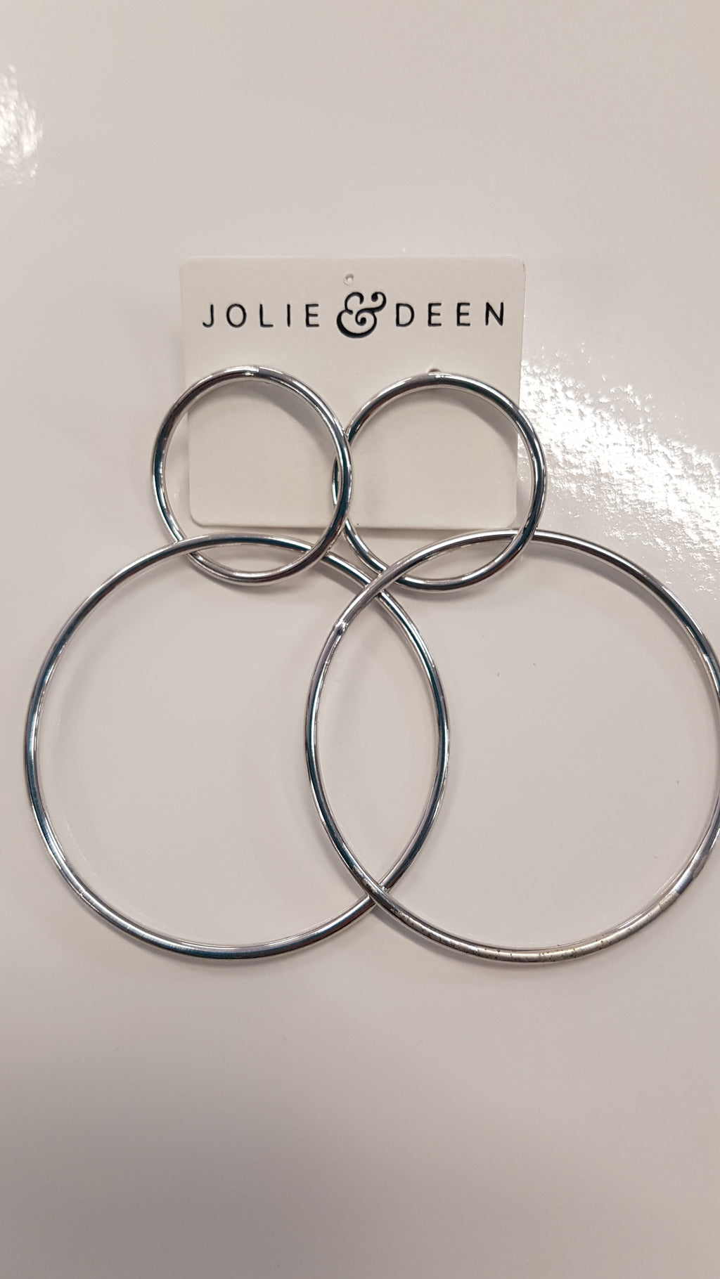Jolie & Deen double hoops. In silver, gold or rose gold