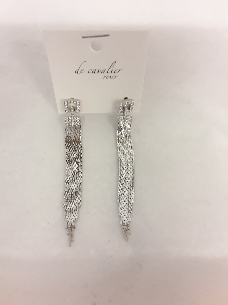 De Cavalier silver tassle drop earrings 954