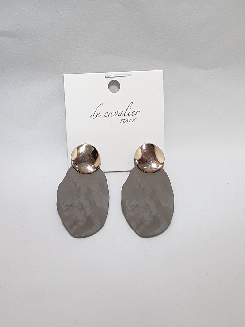 De Cavalier taupe and gold earrings 253