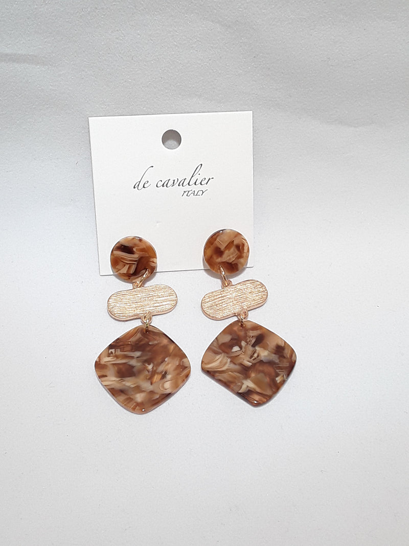 De Cavalier acrylic earrings 273