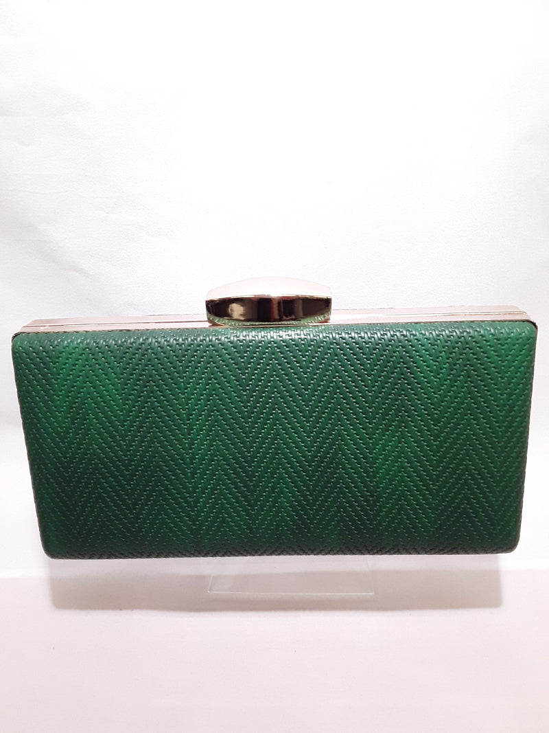 Clutch green with gold trim A8