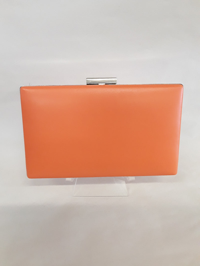 Clutch orange with silver clasp M139A