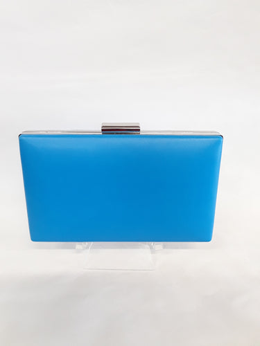 Clutch sky blue with silver clasp M139A