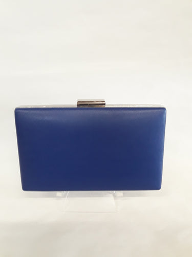 Clutch royal blue with silver clasp M139A