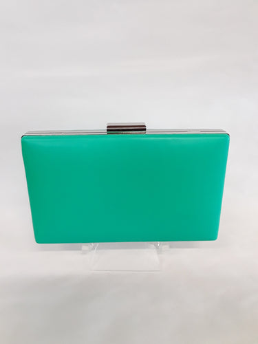 Clutch sea green with silver clasp M139A
