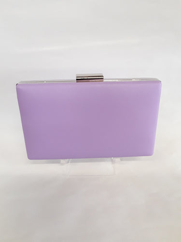 Clutch light purple with silver clasp M139A