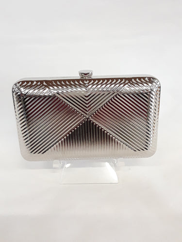 Clutch silver with silver clasp MO528