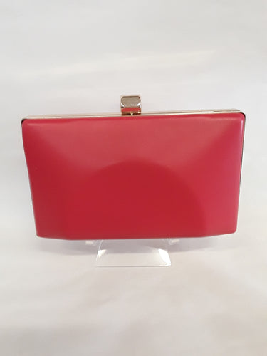 Clutch red with gold clasp 7799