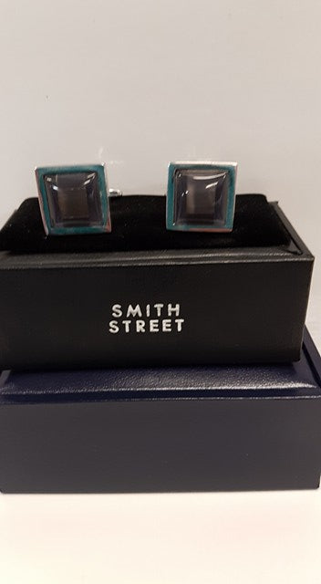 Cuff links Slate grey square 225
