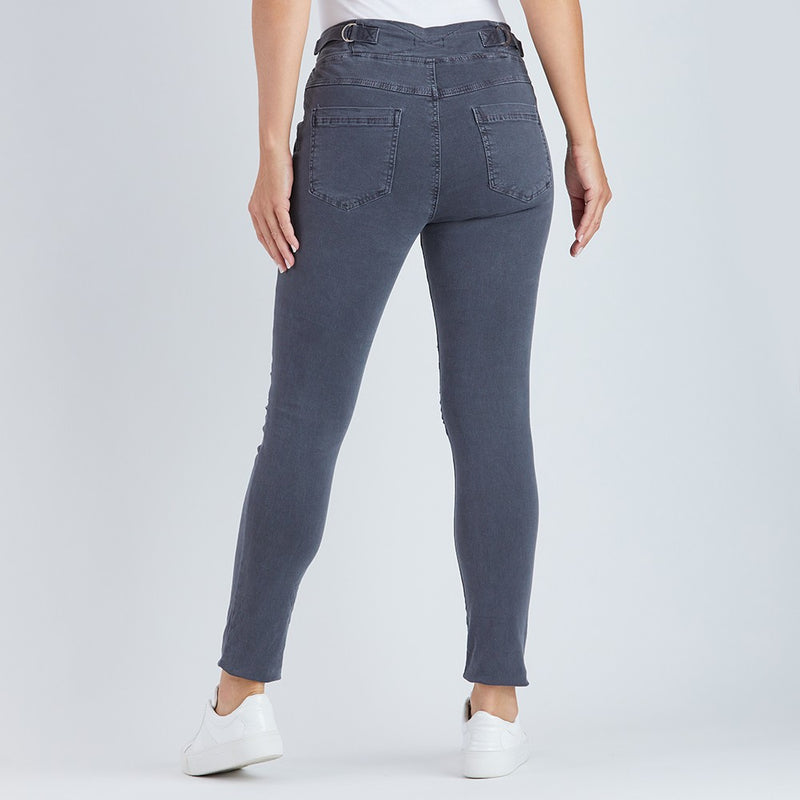 Threadz Denim Stretch Jogger Jeans in Charcoal