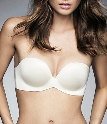 Fineline Elegance Strapless bra in LATTE