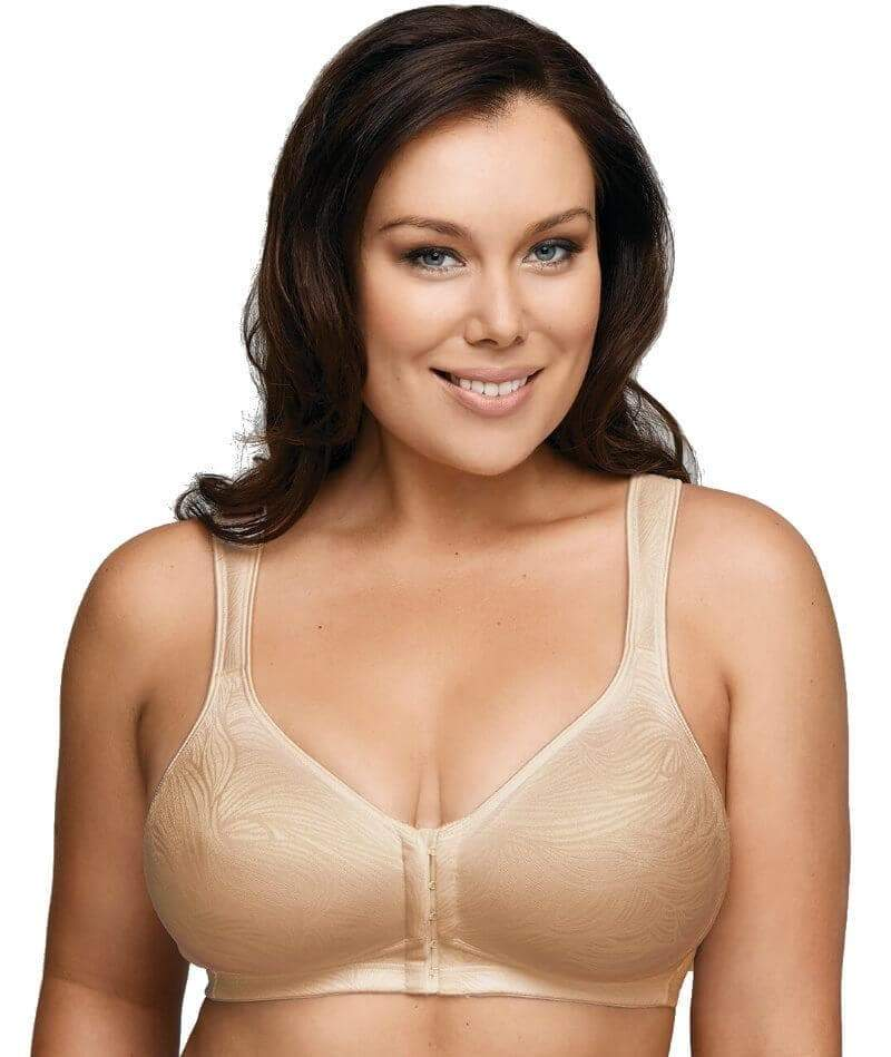 Playtex Front Closing Wirefree Posture Bra In Nude ONLY Y1277H