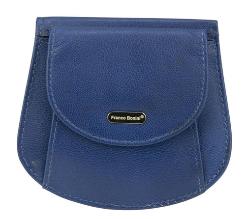 Franco Bonini- Coin Purse Bell Blue 9302