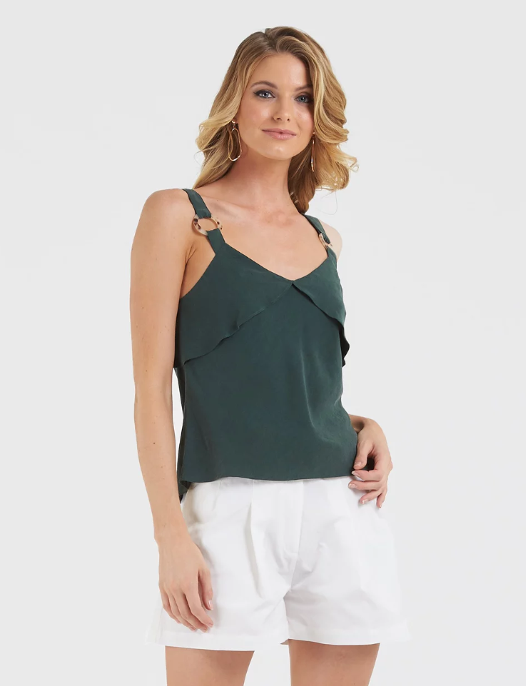 Amelius Apria Top in Forrest Green